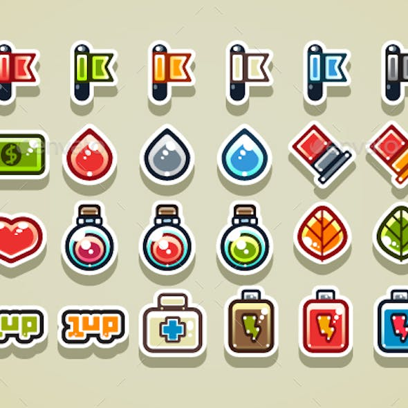 2D Items for Creating Video Games