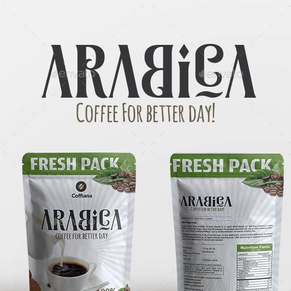 Arabica Coffee Packaging Template