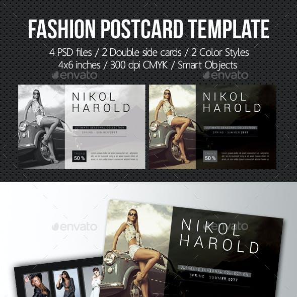 Fashion Postcard Template