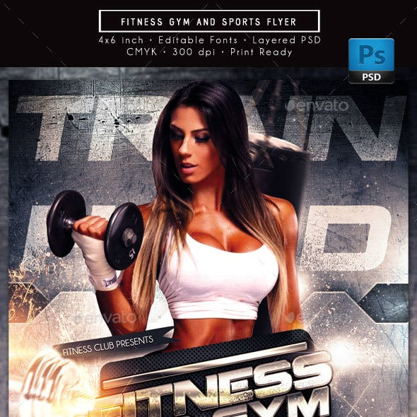 Fitness Gym and Sports Flyer