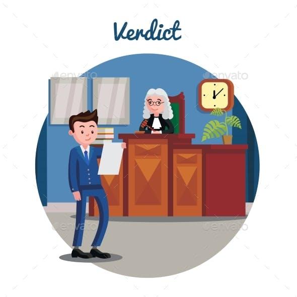 Judicial System Flat Template