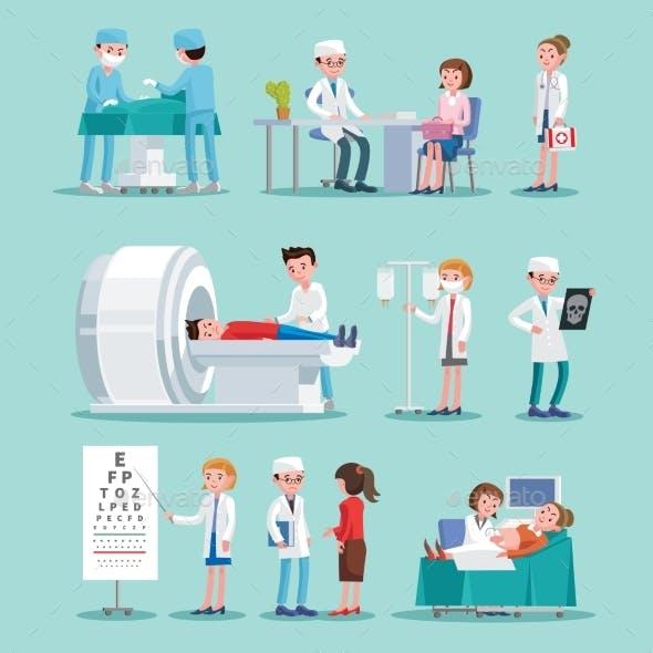 Medical Treatment Icons Set