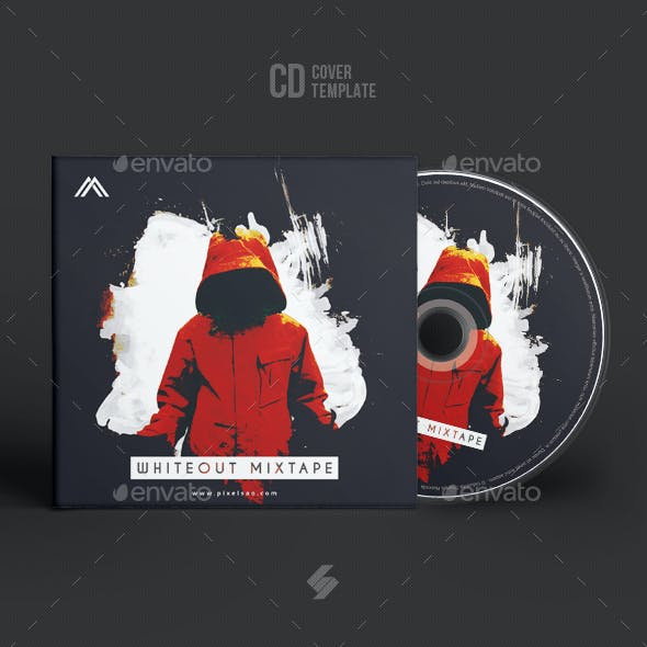 Whiteout Mixtape - CD Cover Artwork Template