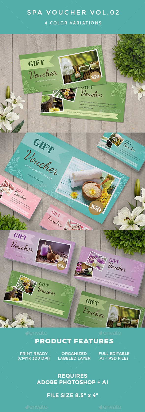 Spa Voucher - Loyalty Cards Cards & Invites