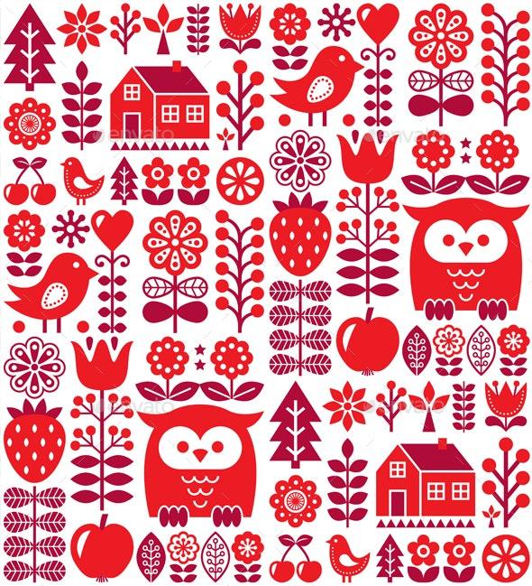 Scandinavian Seamless Pattern - Patterns Decorative