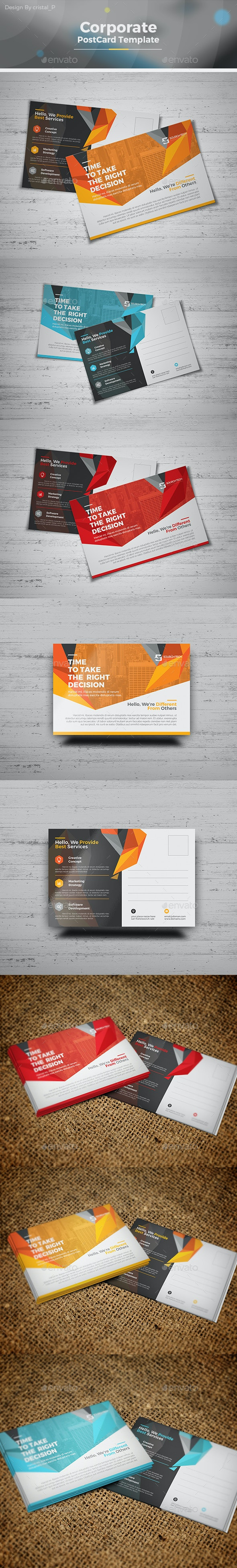 Corporate Business Postcard - Cards & Invites Print Templates
