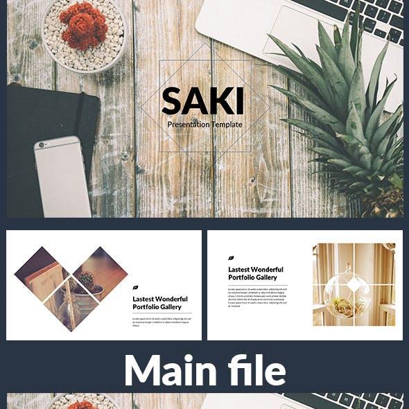 Saki - Creative Keynote template