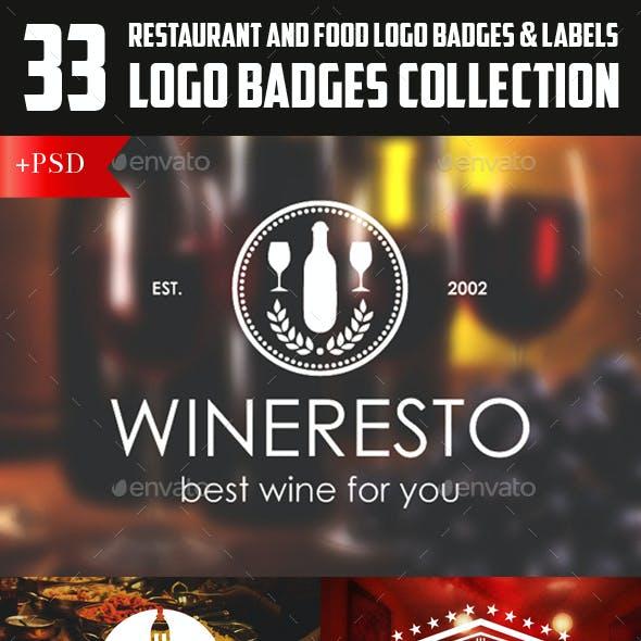 Restaurant Food Logos Badges & Labels Bundle