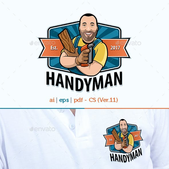 Handyman Fun Mascot logo