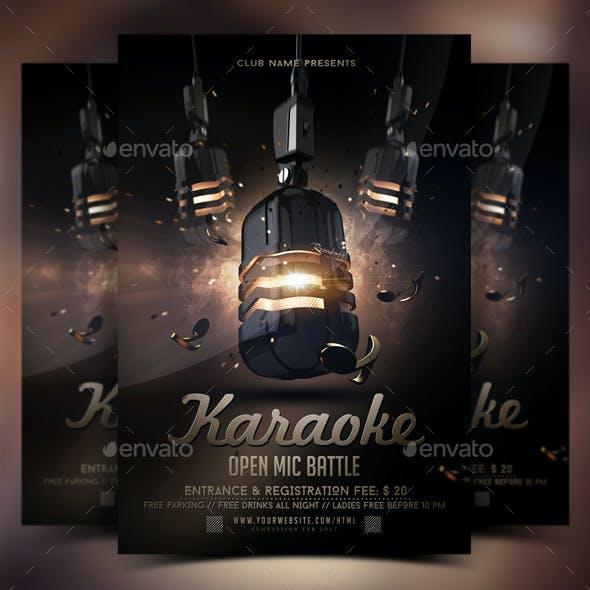 Karaoke Open Mic Battle Flyer