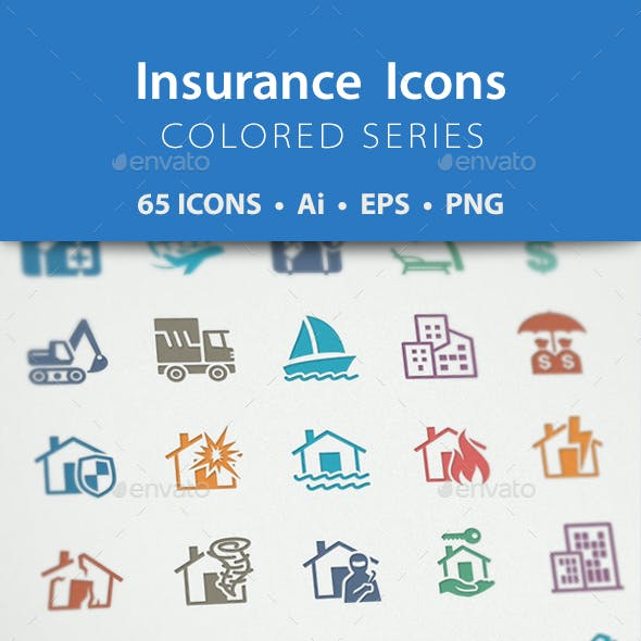 Insurance Icons - Colored Series