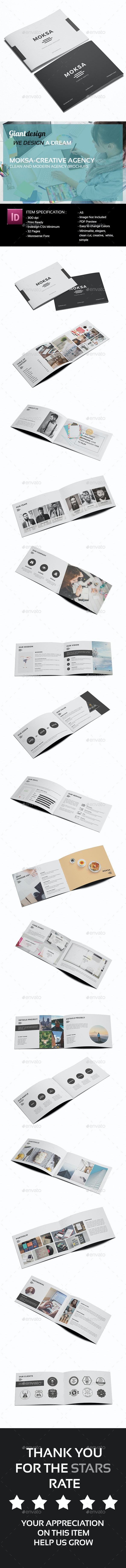 Moksa - Creative Agency Brochure - Portfolio Brochures