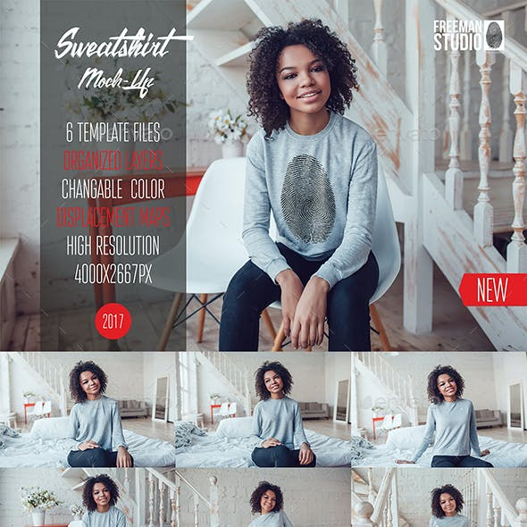 Sweatshirt Mock-Up Vol.5 2017