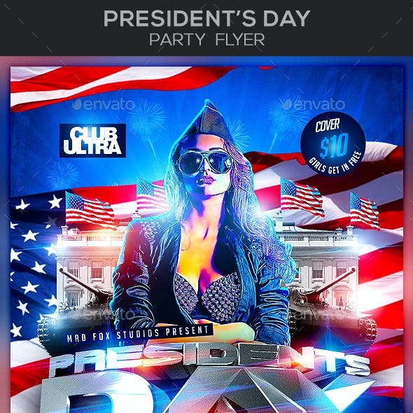 President's Day Party Flyer