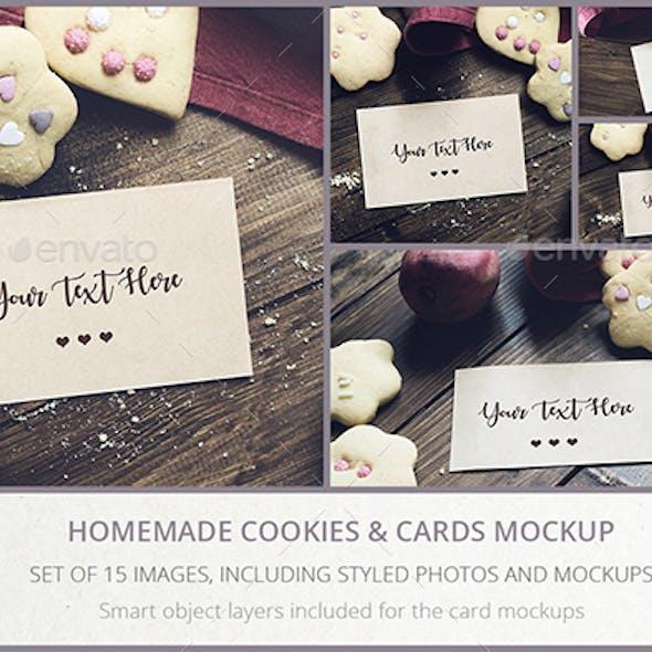 Homemade Cookies & Cards MockUp Set