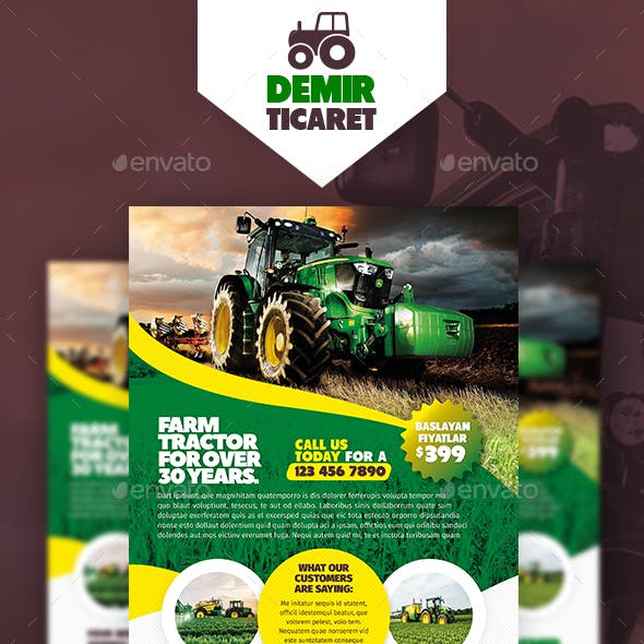 Garden Farm Flyer Templates