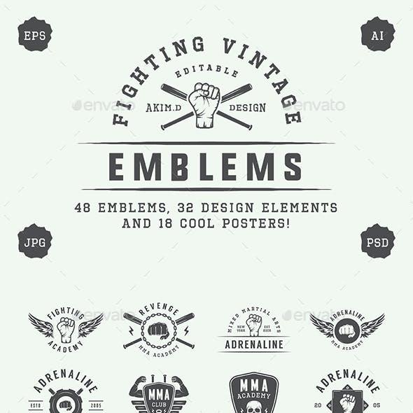 Vintage Fighting Emblems