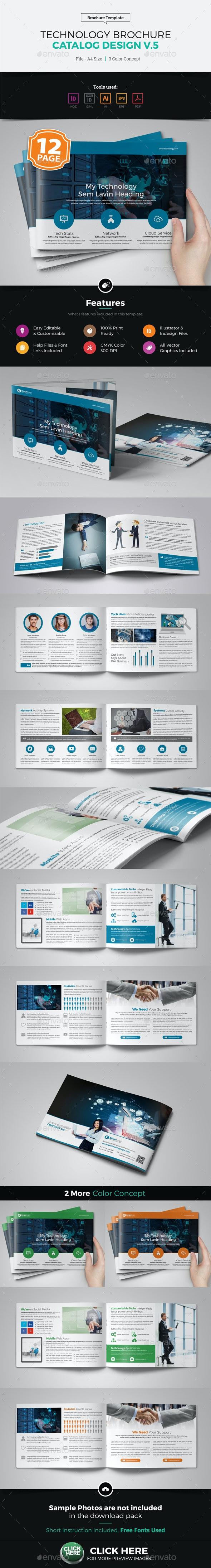 Technology Brochure Catalog Design v5 - Corporate Brochures