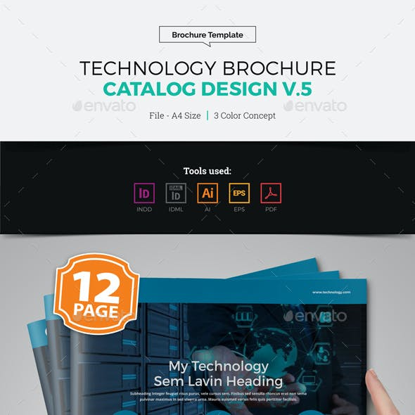 Technology Brochure Catalog Design v5