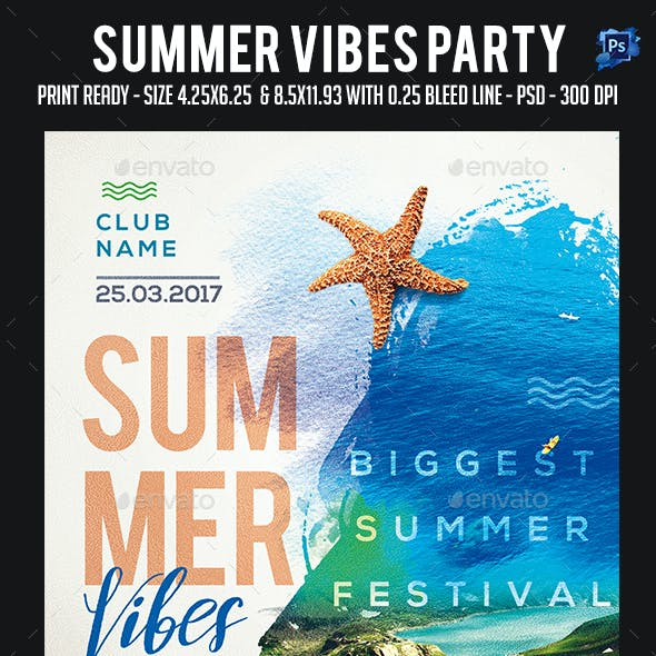Summer Vibes Party Flyer
