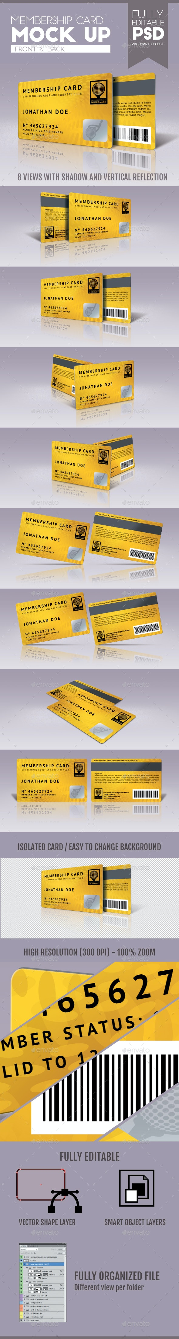 Membership Card - Miscellaneous Product Mock-Ups