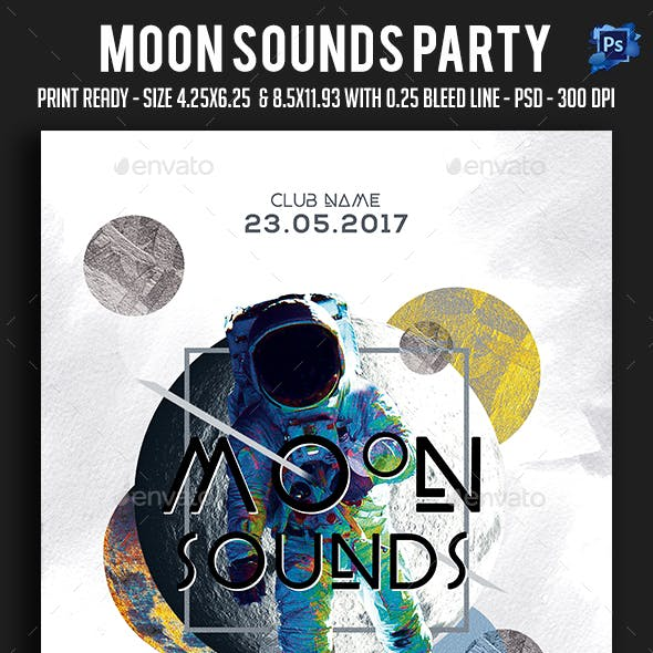 Moon Sounds Party Flyer