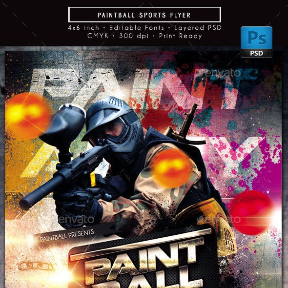Paintball Speedball Sports Flyer