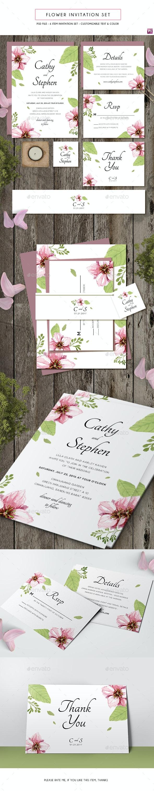 Flower Invitation - Weddings Cards & Invites
