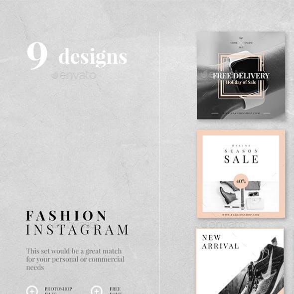 Fashion Instagram - 9 Designs