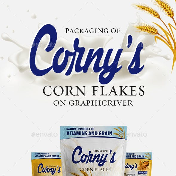 Corn Flakes Packaging Template