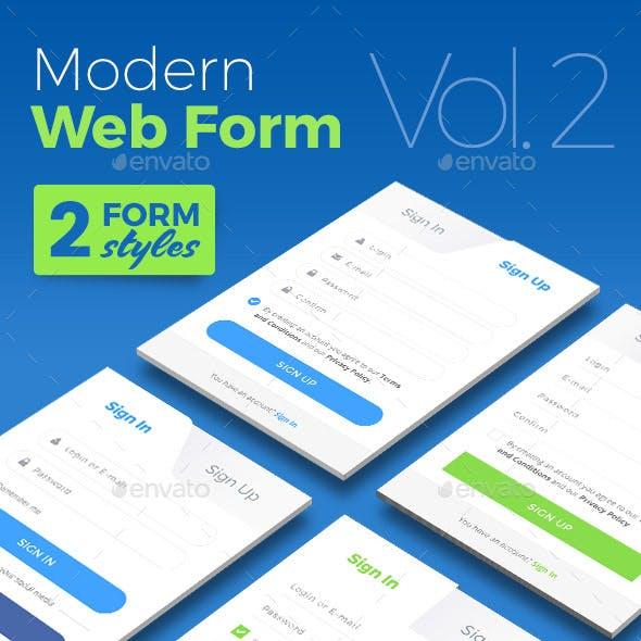 Modern Web Form - Vol. 2