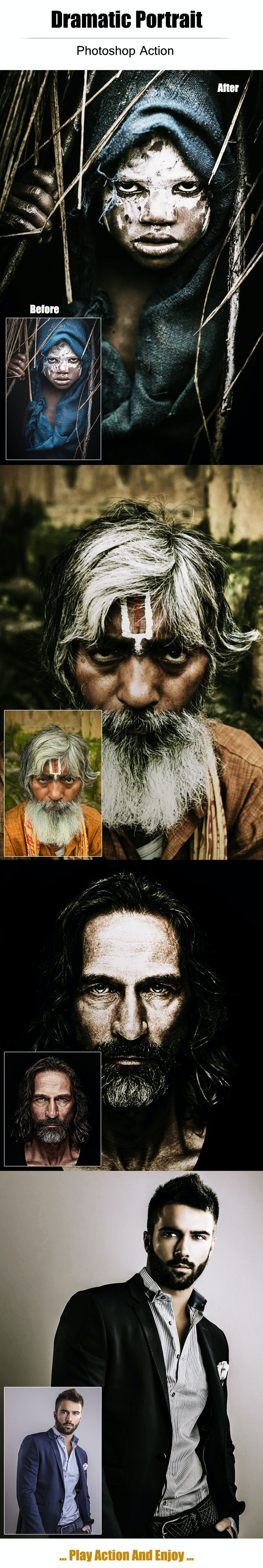 Dramatic Portrait - Photo Effects Actions