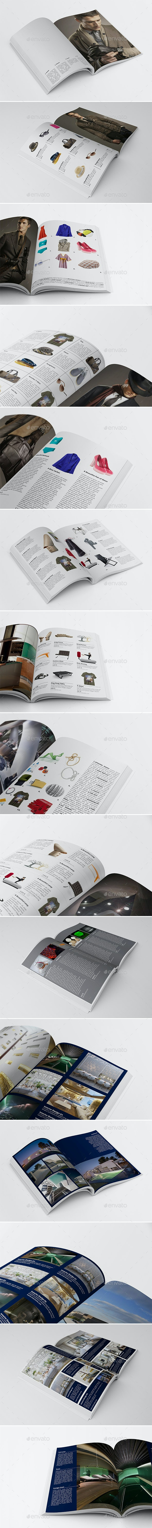 15 Different Products Showcase Layouts Bundle - Magazines Print Templates