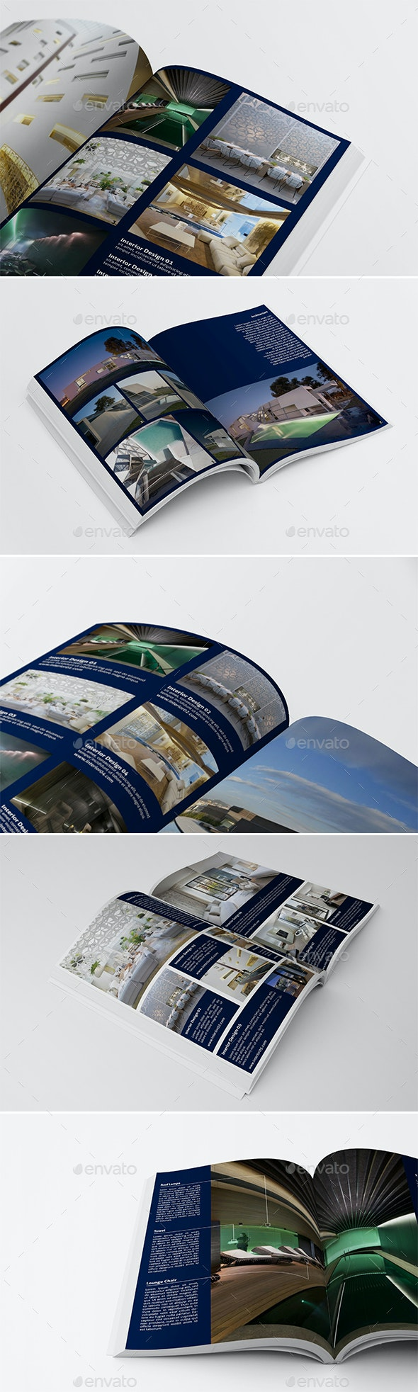 5 Different Product Showcase Layout V.3 - Corporate Brochures