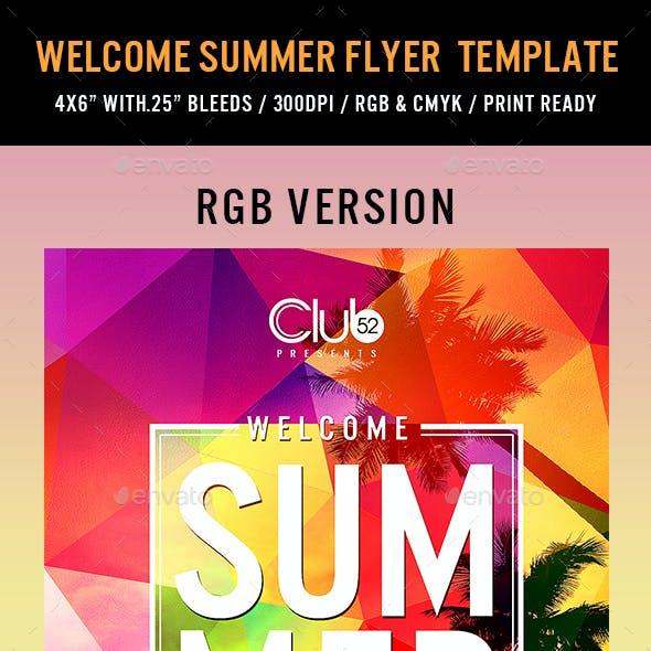 Welcome Summer Flyer Template