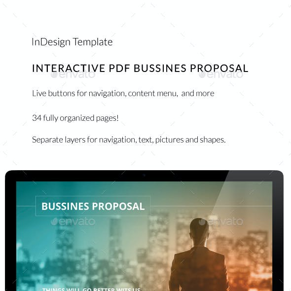 Interactive PDF Business Proposal No3