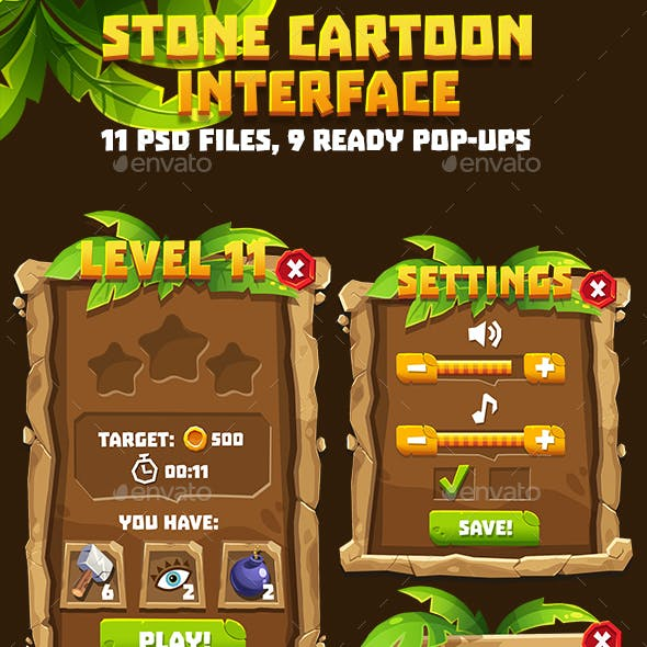 Stone Age Game Interface Pack