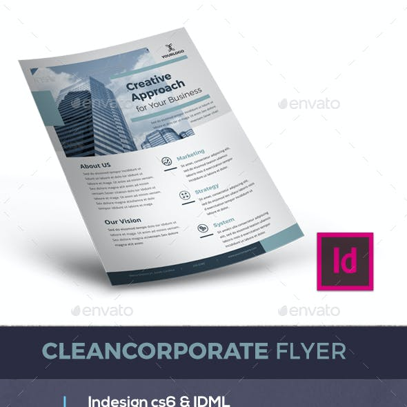 Clean corporate flyer