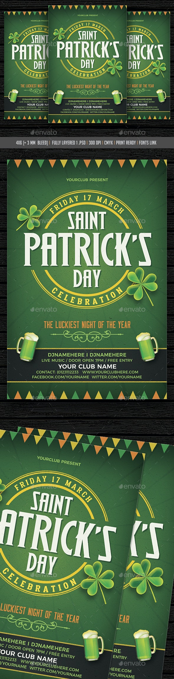 St. Patricks Day Celebration - Events Flyers