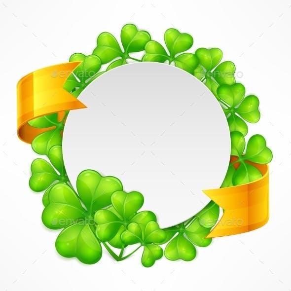 St. Patricks Day Round Tamplate