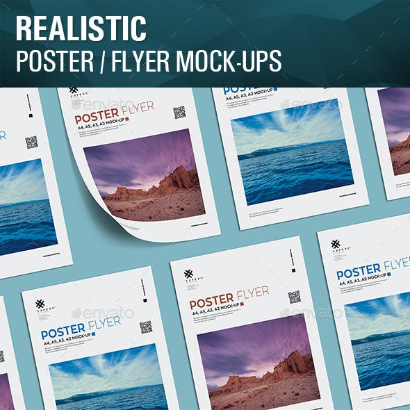 Realistic Poster Mockups