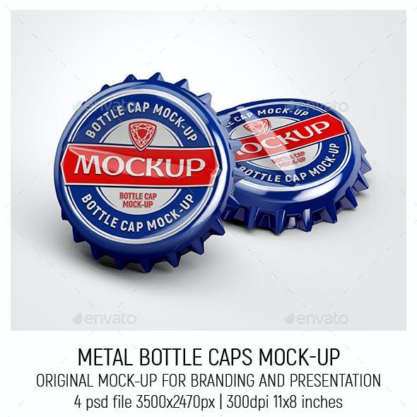 Metal Bottle Caps Mock-up