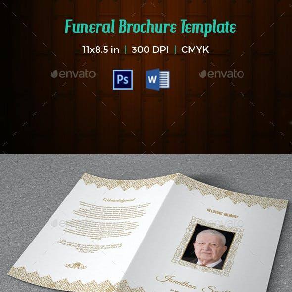 Funeral Program Template-V155