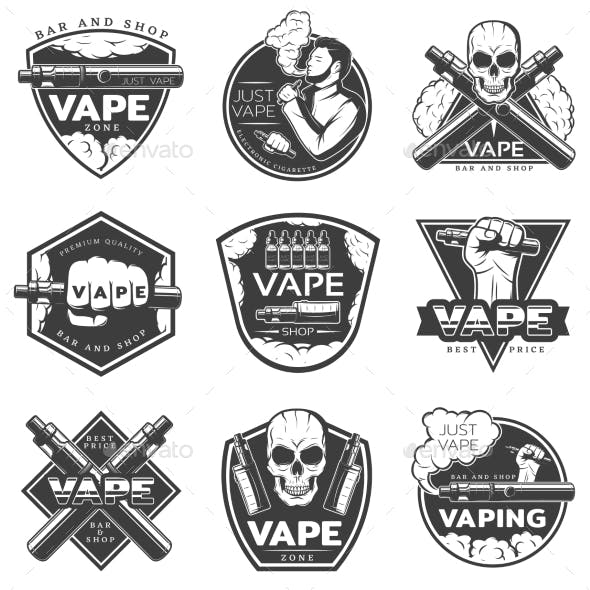 Vintage Vape Labels