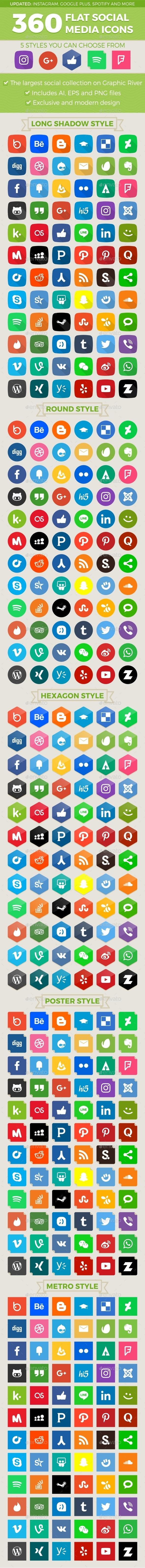 Social Media Icons - Media Icons