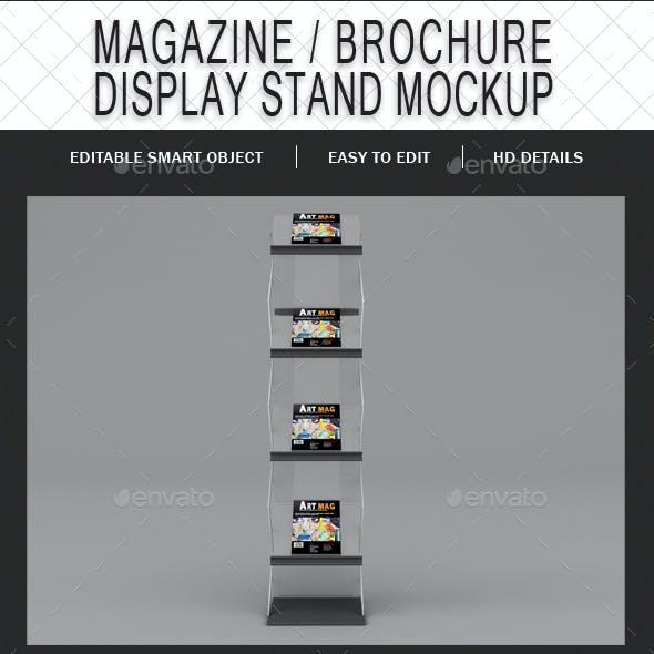 Magazine / Brochure Display Stand Mockup
