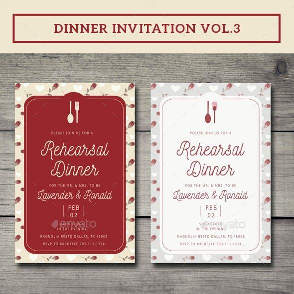 Dinner Invitation Vol.3