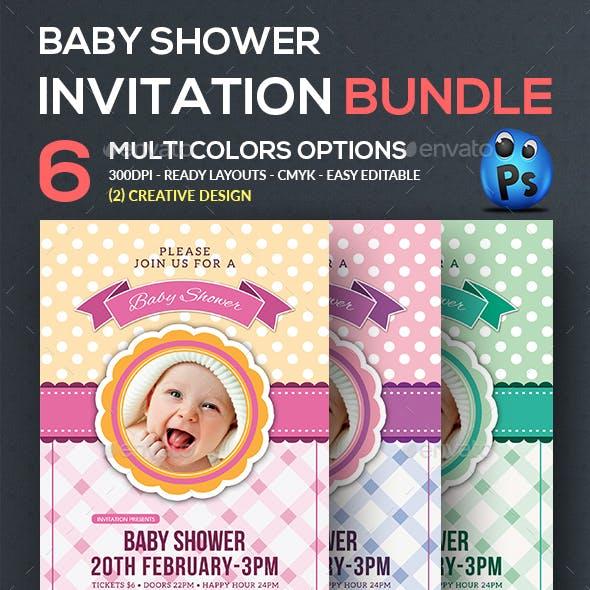 Baby Shower Flyer Bundle