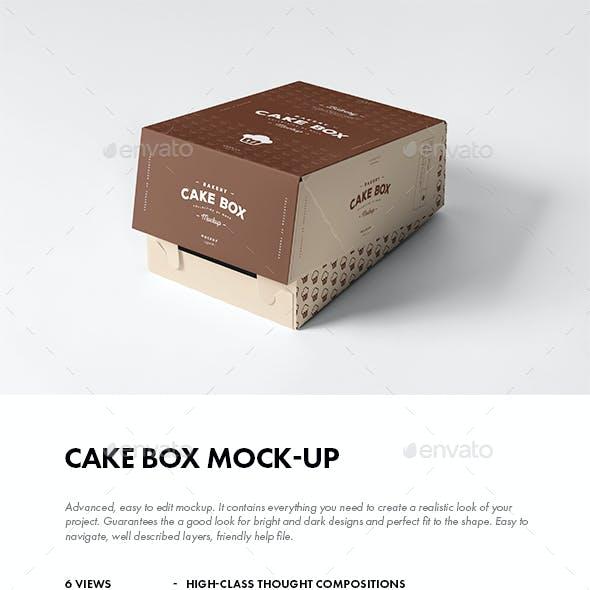 Cake Box Mock-up