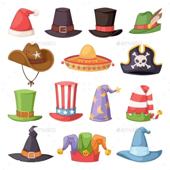Different Hats for Party and Holidays